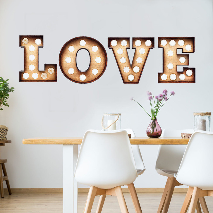 Love Marquee Wall Decal by Chromantics