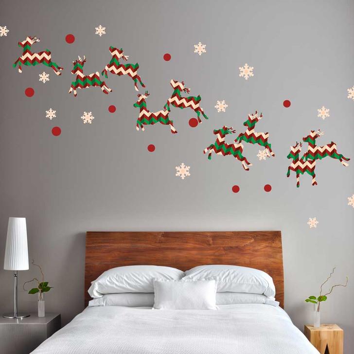 Chevron Reindeer Wall Decal Set by Chromantics