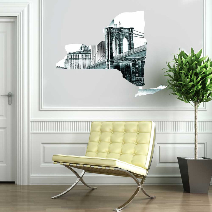 New York State Wall Decal by Chromantics