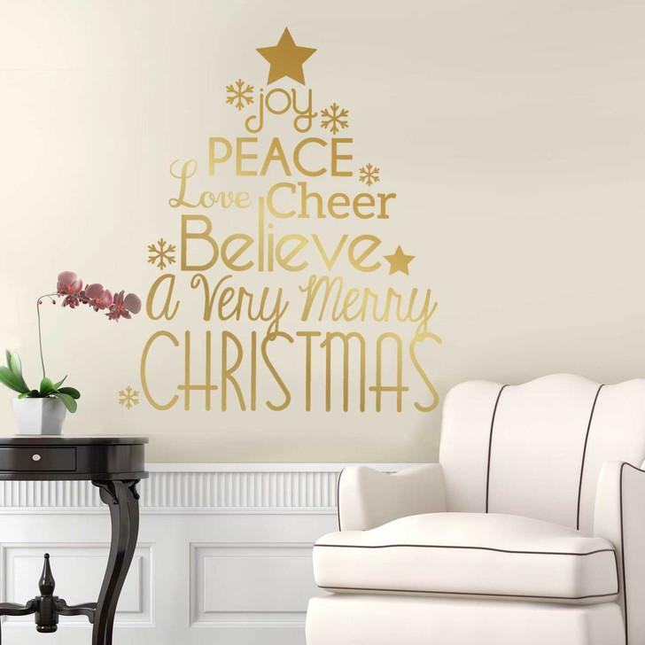 Believe in Christmas Kiss Cut Wall Decal by Chromantics