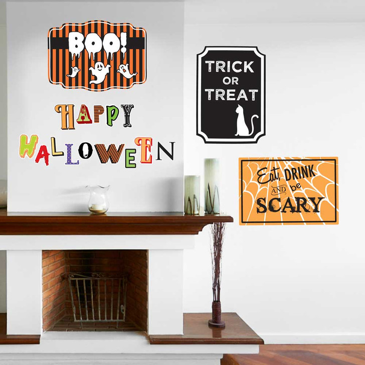 Happy Halloween Signs Wall Decal Set by Chromantics