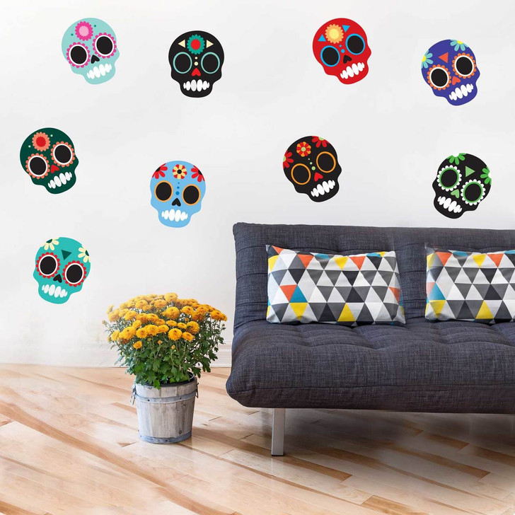 Sugar Skull Wall Decal Kit by Chromantics