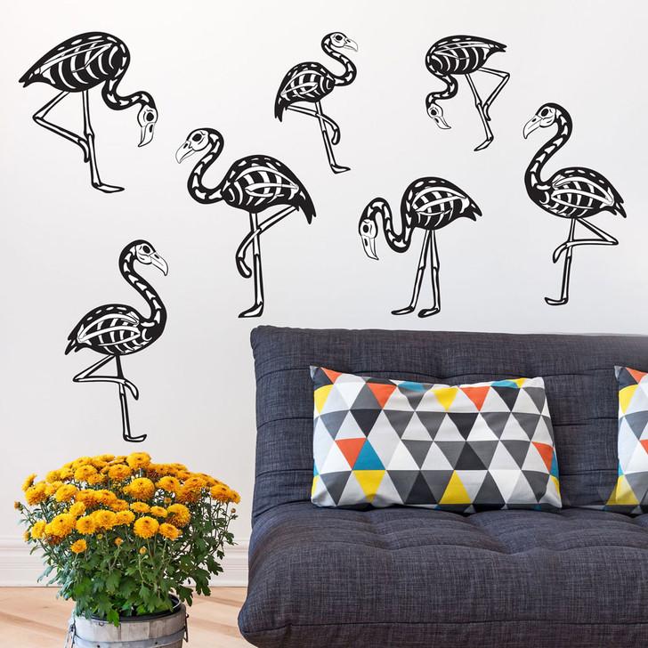 Flamingo Skeleton Wall Decal Kit by Chromantics