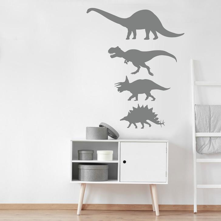 Dinosaur Silhouette Wall Decal Set