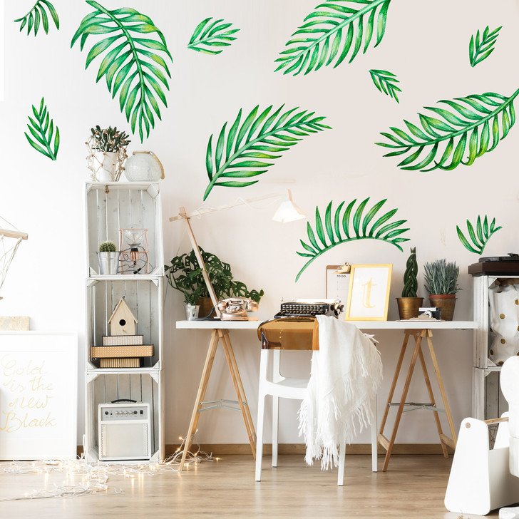 Palm Leaves Watercolor Wall Decal