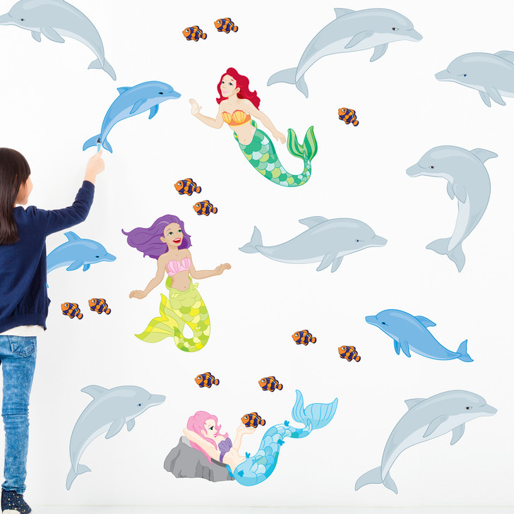 Mermaid & Dolphin Wall Decal Bundle by Chromantics