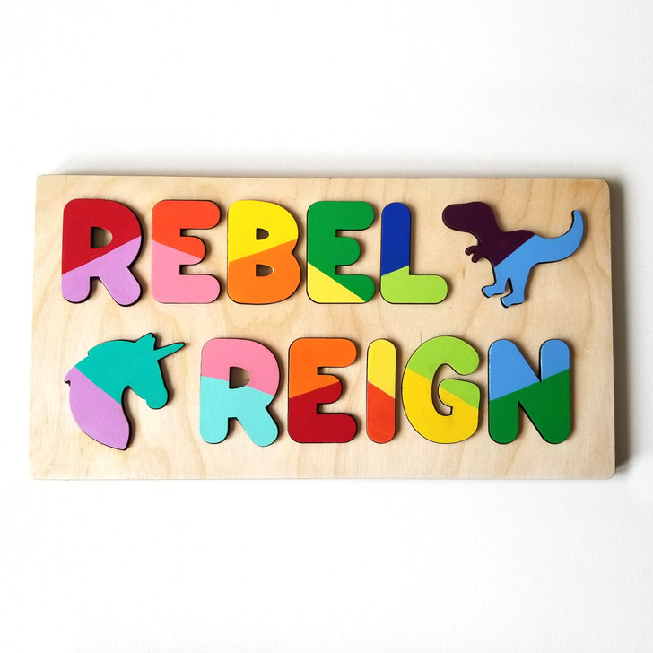 Custom Name Wooden Puzzle for Babies and Toddlers
