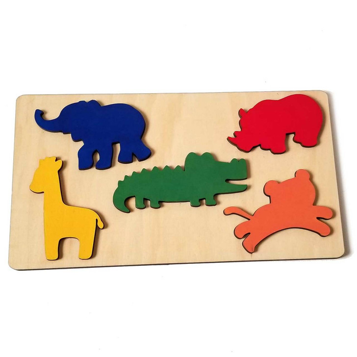 Safari Animal Wooden Puzzle by Chromantics