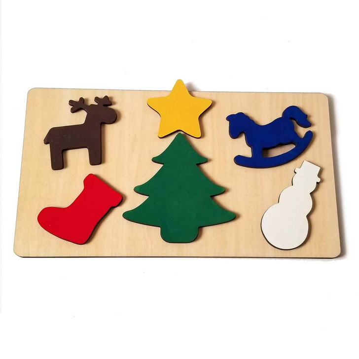 Christmas Wooden Puzzle for Babies and Toddlers