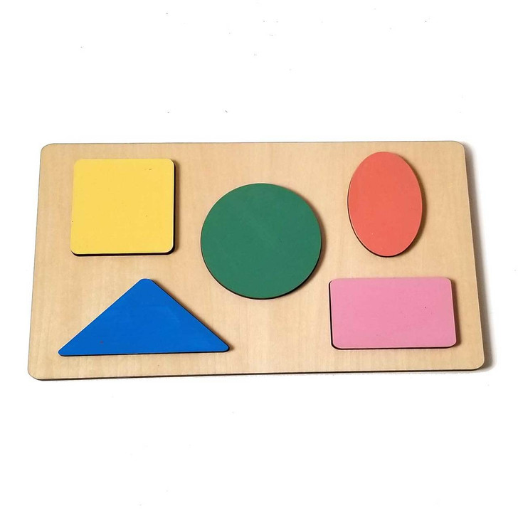 Basic Shape Wooden Puzzle by Chromantics