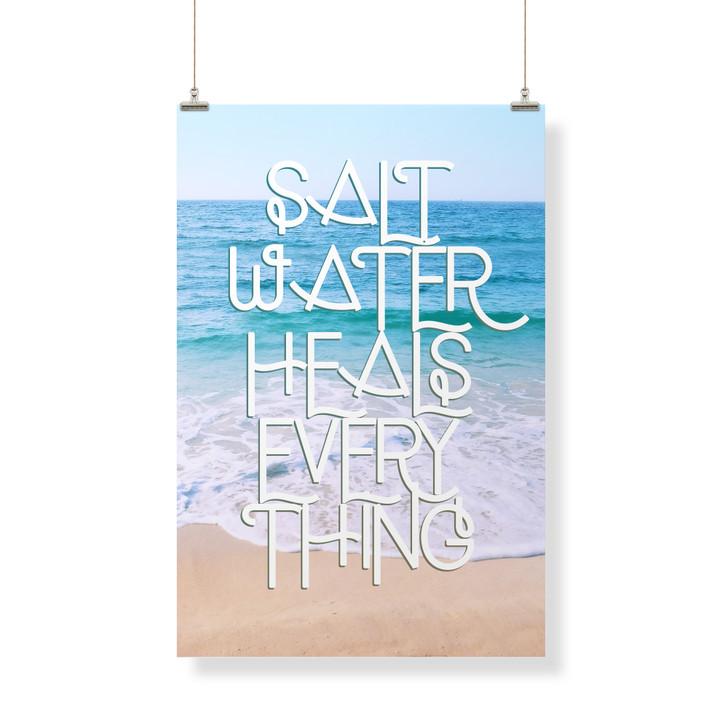 Saltwater Heals Everything  Decor Banner
