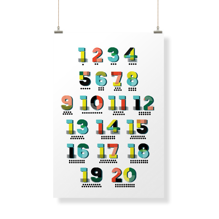 Counting Numbers Decor Banner