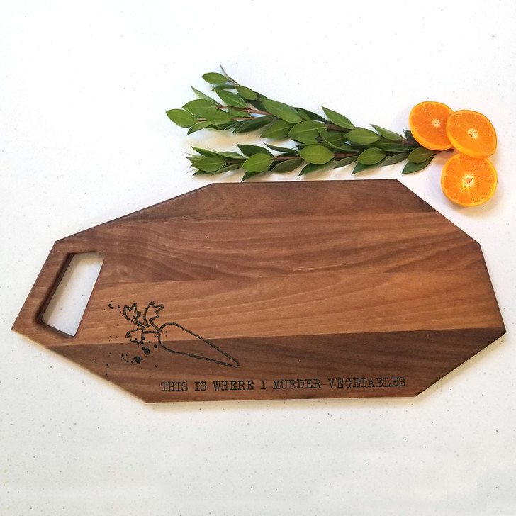 This is Where I Murder Vegetables Charcuterie Board