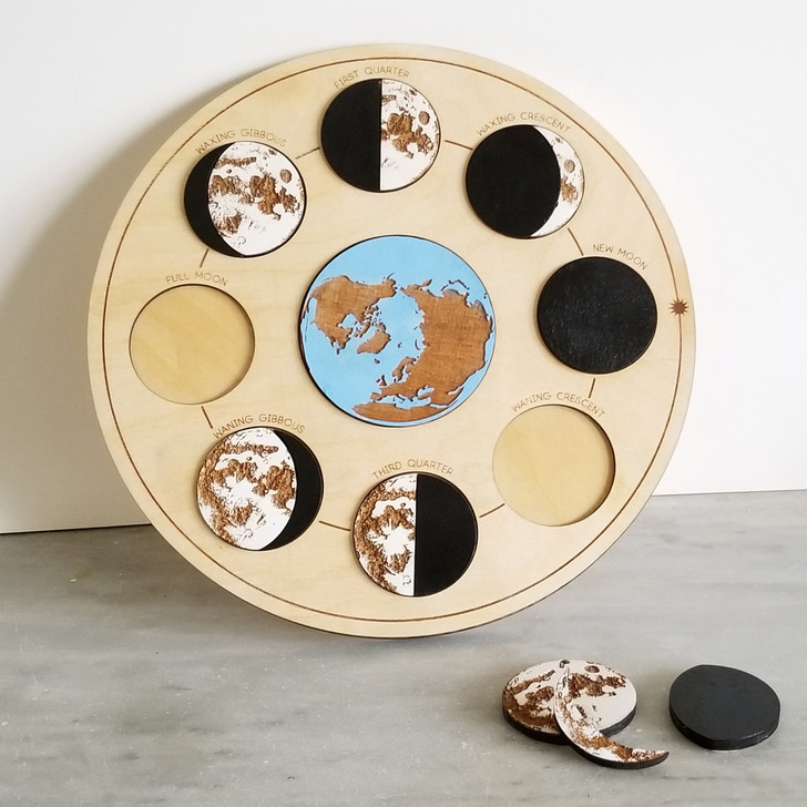 Moon Phases Wooden Engraved Puzzle