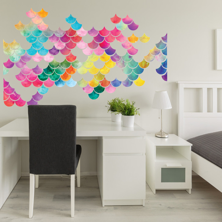 Scalloped Space Wall Decal Sticker Set