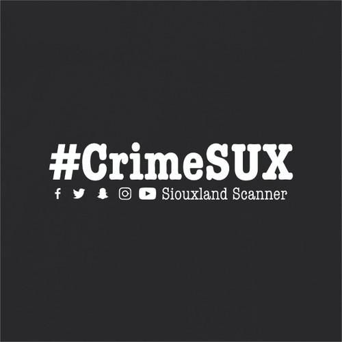 #CrimeSUX - Siouxland Scanner  T-Shirt