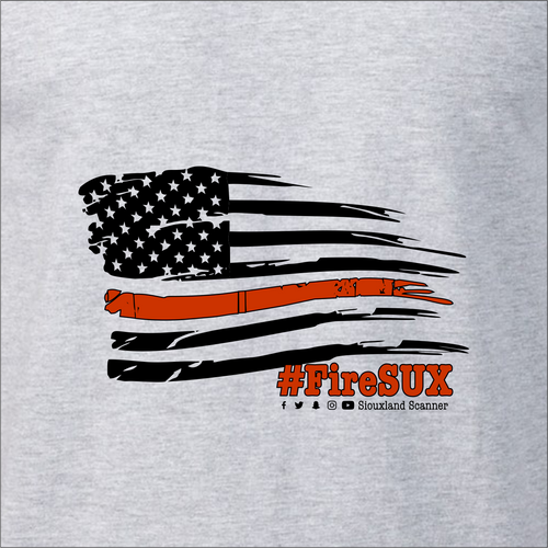 #FireSUX Flag - Siouxland Scanner  T-Shirt