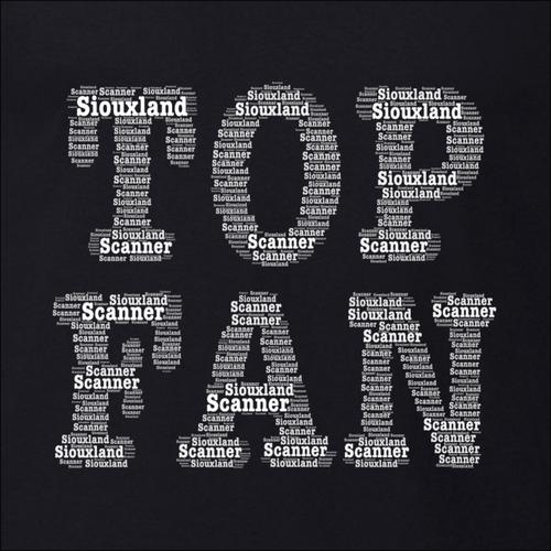 Top Fan Word Art - Siouxland Scanner  T-Shirt