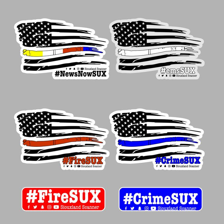#FireSUX / #emsSUX / #CrimeSUX Window Decals
