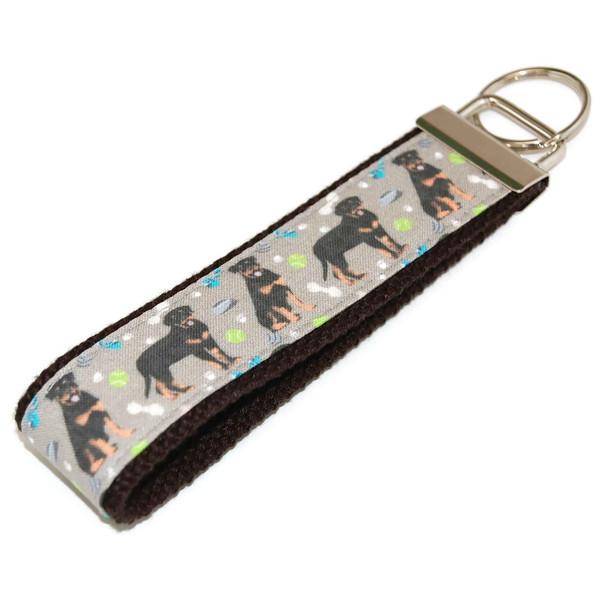 Rottweiler Rottie Dog Keychain