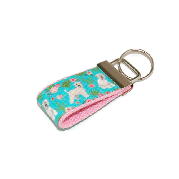 Irish Wheaten Terrier Dog Mini Keychain