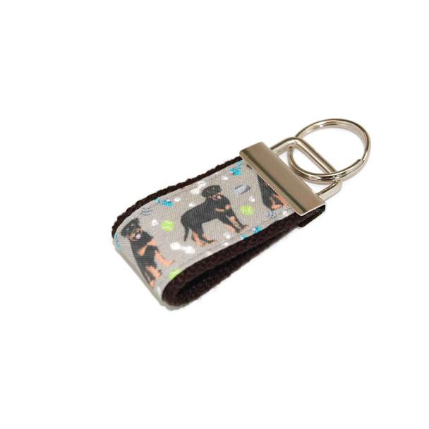 Rottweiler Rottie Dog Mini Keychain