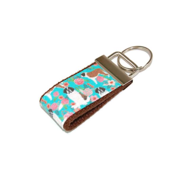 Saint Bernard Dog Mini Keychain