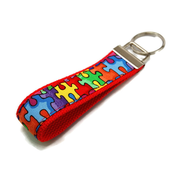 Autism Awareness Key Chain Key Fob