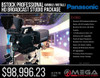 BSTOCK Panasonic Professional HD Broadcast 3 Camera Studio Package (mobile/install)