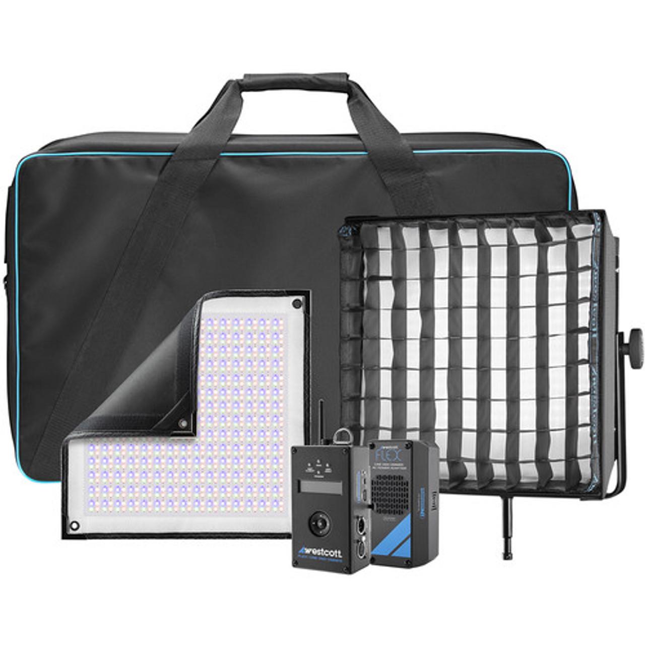 Westcott 7631 Flex Cine DMX RGBW LED Mat Single Light Fixture Kit (1 x 1')