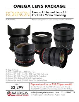 Canon EF Mount Lens Kit