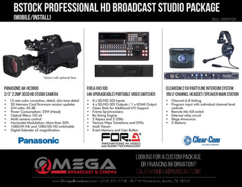 BSTOCK Panasonic Professional HD Broadcast 3 Camera Studio Package (mobile/install)
