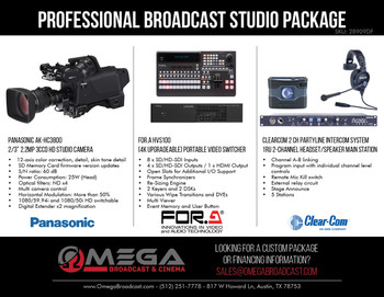 Panasonic Professional HD Broadcast Studio Package