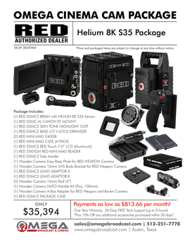 RED EPIC-W Helium 8K S35 Package