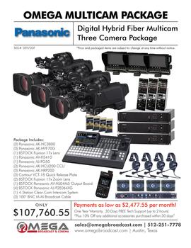Panasonic Digital Hybrid Fiber Multicamera Package