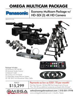 Panasonic Economy Multicam Package with HD-SDI