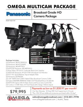 Panasonic Broadcast Grade HD Camera Package 2