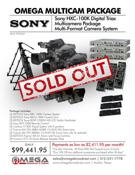 Sony HXC100 Digital Triax Multicamera Package 1 - DISCONTINUED