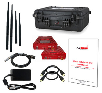 ABonAir AB406 Economy Broadcast Wireless System with 3G-SDI, HDMI, Camera Control, 1080p/60, 1/2 mile range, 7ms
