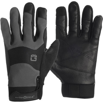 Bright Tangerine B1300.1006 ExoSkin Leather Armour Gloves (L) - DISCONTINUED