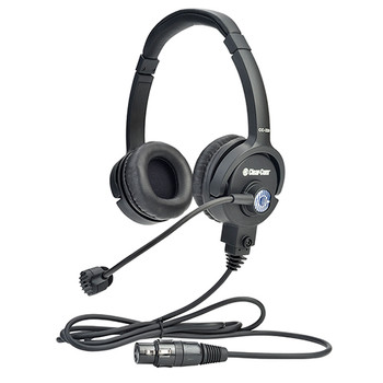 Clear-Com CC-220 Premium Lightweight Double On Ear Headset - Field Removable Four-pin Female XLR -DISCONTINUED