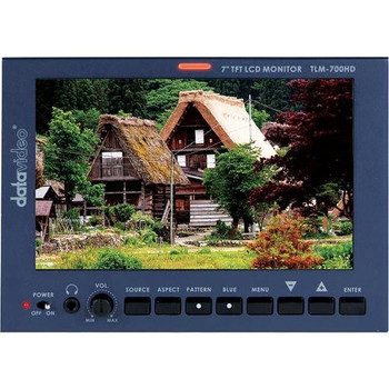 """Datavideo TLM-700HD 7"""" LCD Monitor with Canon Battery Mount"""