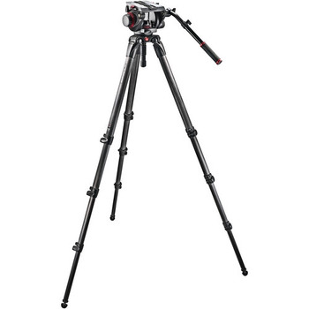 Manfrotto 509HD, 536K 536 Carbon Fiber Tripod with 509HD Video Head and Padded Carry Bag
