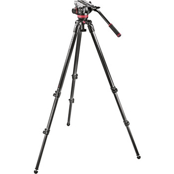 Manfrotto MVK502C Fluid Head and 535 CF Tripod System with Carrying Bag - DISCONTINUED