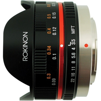 Rokinon FE75MFT-B 7.5mm f/3.5 Ultra Wide-Angle Fisheye Lens for Micro 4/3 (Black)