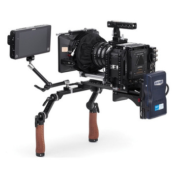 Wooden Camera 203700 Shoulder Rig v2 Mid with Short Rosette Arms & Handles (Brown Leather)
