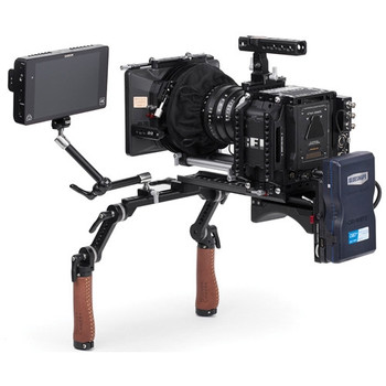 Wooden Camera 203800 Shoulder Rig v2 Mid with Short Rosette Arms & Handles (Rubber)