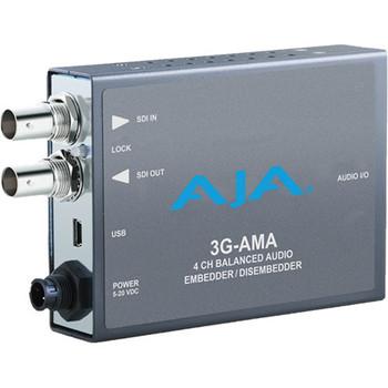 AJA 3G-AMA 3G-SDI 4-Channel Analog Audio Embedder/Disembedder Mini-Converter