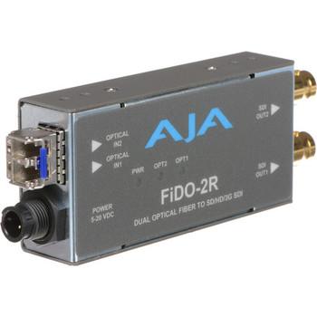AJA FiDO-2R Dual-Channel LC Fiber to 3G-SDI Mini Converter