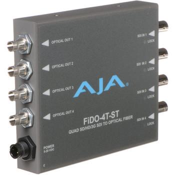 AJA FiDO-4R-ST Quad-Channel ST Fiber to 3G-SDI Mini Converter